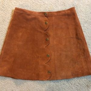 NWT Free People One on One SUEDE Mini Skirt - WOW!